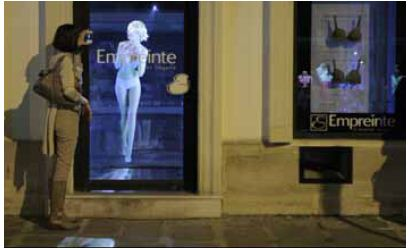Hologramme atelier lingerie Empreinte